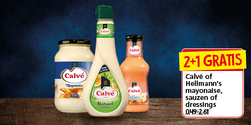 Calvé of Hellmann's mayonaise, sauzen of dressings